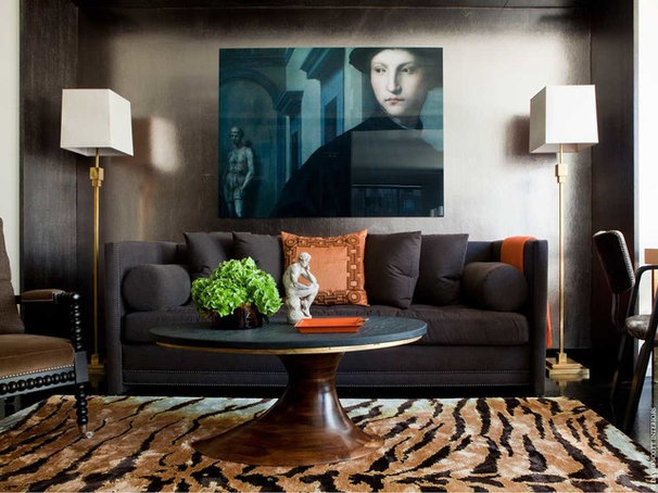 Eclectic Living Room by David Scott Interiors