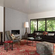 Modern Living Room by David Heide Design Studio