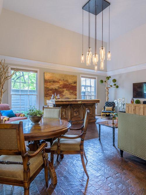 wohnzimmer mit backsteinboden und multimediawand ideen. Black Bedroom Furniture Sets. Home Design Ideas