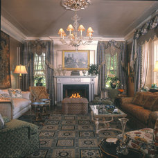 Traditional Living Room by Haskell Interiors
