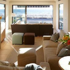 Beach Style Living Room by Pamela Pennington Studios