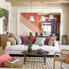 Transitional Living Room by Historical Concepts