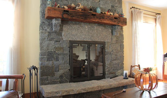 Updated Farmhouse Stone Fireplace