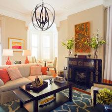 Contemporary Living Room by Ellsworth-Hallett Home Professionals