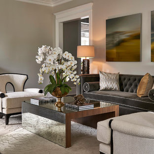 Updated Traditional Home Formal Living Room