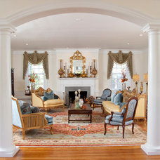 Traditional Living Room by ShazDesign