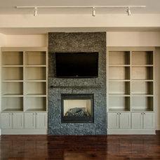 Traditional Living Room by Seva Rybkine
