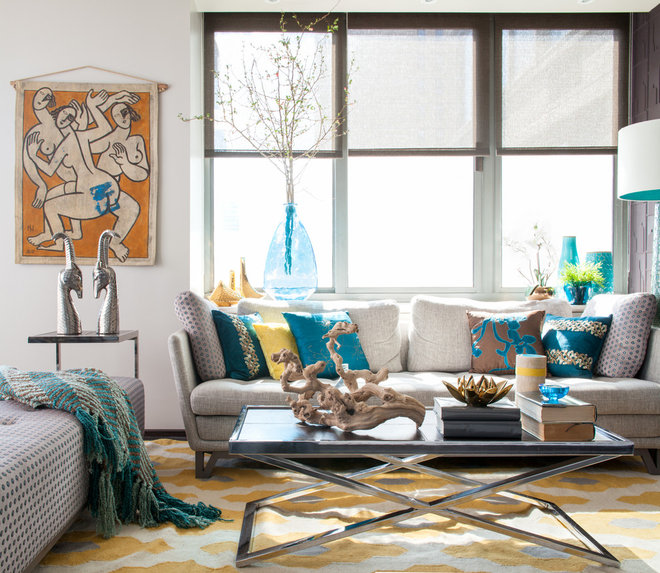 Contemporary Living Room by Sapna Mundra