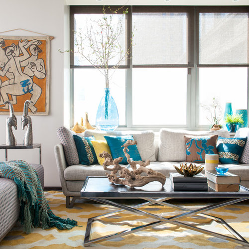 Living Room Teal Accents | Gopelling.net
