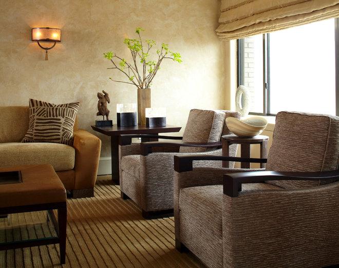 Contemporary Living Room by Robin Baron Design