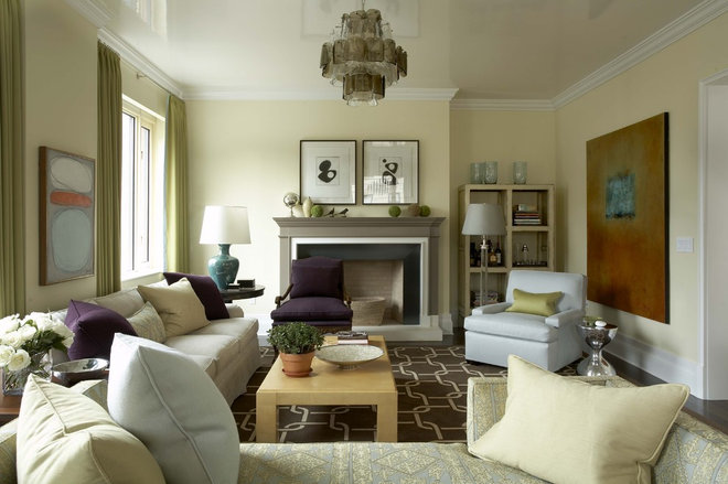 Transitional Living Room by Willey Design LLC