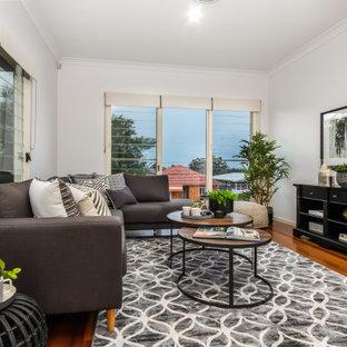 Transitional living room in Brisbane.