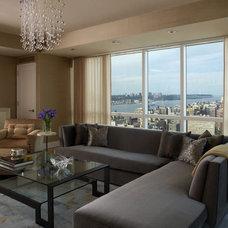 Modern Living Room by Evelyn Benatar, New York Interior Design