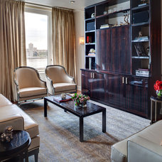 Transitional Living Room by Kati Curtis Design