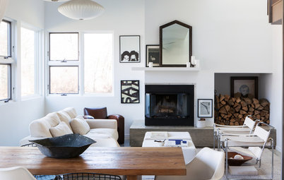Houzz Tour: Black and White and Beautiful in Upstate New York