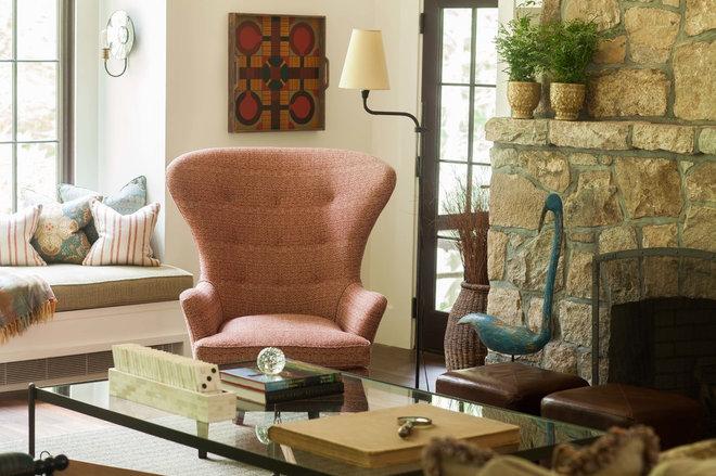 Rustic Living Room by jamesthomas, LLC