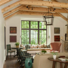 Rustic Living Room by jamesthomas, LLC