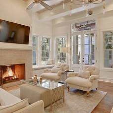 Traditional Living Room by Maison de Reve Builders LLC