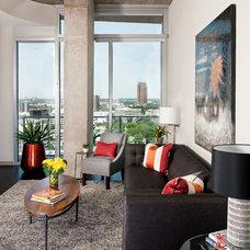 Contemporary Living Room by Dona Rosene Interiors