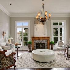 Transitional Living Room by vanDeventer Design