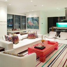 contemporary living room by Laura U, Inc.