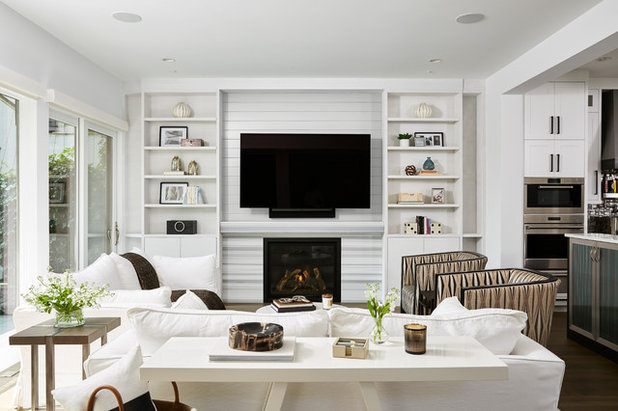 Transitional Living Room by Vivid Interior Design - Danielle Loven