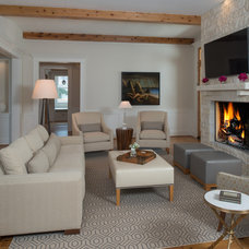 Traditional Living Room by Laura Manchee Designs