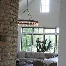 Farmhouse Living Room by ENJOY Co.
