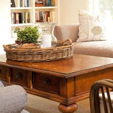 Farmhouse Living Room by REFINED LLC