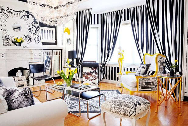 Eclectic Living Room by Ginevra Held Interior Design