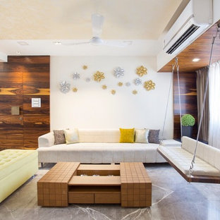 Inspiration for a contemporary living room remodel in Pune