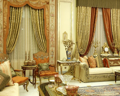 Layered drapery home design ideas pictures remodel and decor for Traditional curtains for living room