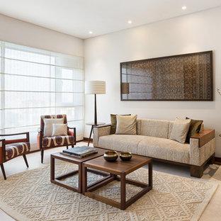 Photo of a midcentury living room in Mumbai.