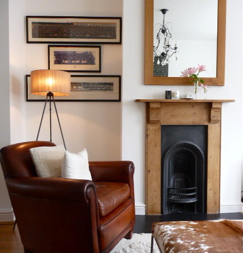 Narrow fireplace houzz Small living rooms with fireplaces