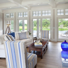 Beach Style Living Room by Morgan Howarth Photography