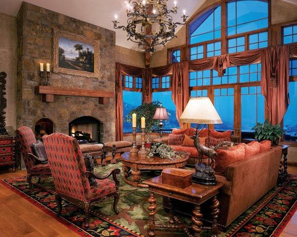 Traditional Living Room by Allure Custom Rug Studio