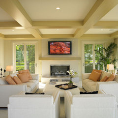 modern living room by Jorge Castillo Design Inc.