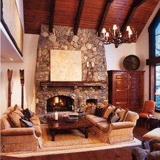 Rustic Living Room by Robert Holgate Design