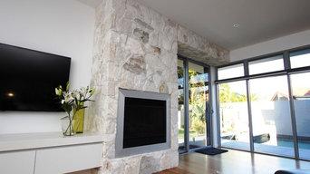 Valencia Stone Fireplace
