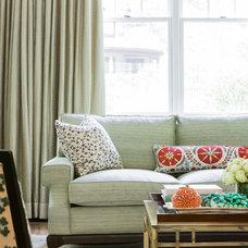 Transitional Living Room by Jill Litner Kaplan Interiors