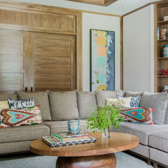 media room by Jill Litner Kaplan Interiors