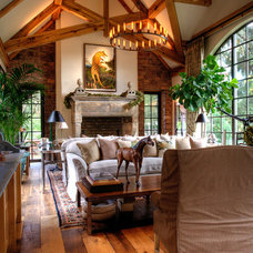 traditional living room by JLF & Associates, Inc.