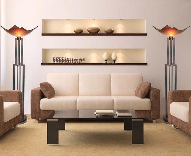 Modern Living Room by VanTeal