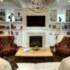 Traditional Living Room by Burrus Architecture & Construction, LLC