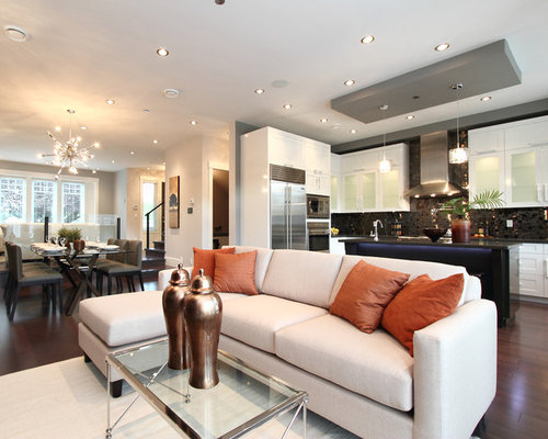 Bulk head ideas pictures remodel and decor for Open concept living room ideas