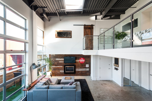 Industrial Living Room by theMACNABs