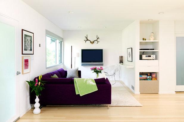 Scandinavian Living Room by P+A Interiors Inc