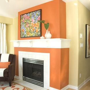 Burnt Orange Accent Wall   Houzz