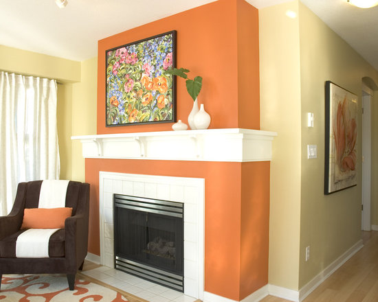 burnt orange paint color | houzz