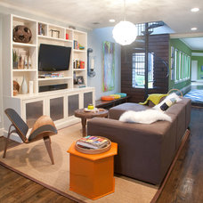 Modern Living Room by Modern Craft Construction, LLC